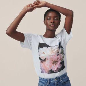 H&M Tops - Helena Christensen x hm flower image tee